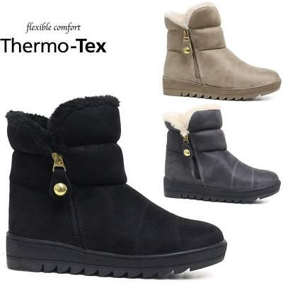 Ladies Snow Boots Winter Thermo Tex Warm Thermal Fur Non Slip Ankle Boots