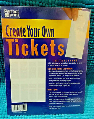 numbered perforated raffle tickets your design 49 99 picclick