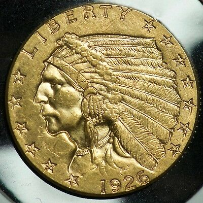 1926 Gold Indian Head 2 1/2 Dollar $2.5 Quarter Eagle Coin