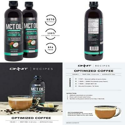 Onnit MCT Oil - Pure Coconut Oil, Ketogenic Diet and Paleo 48 Ounce