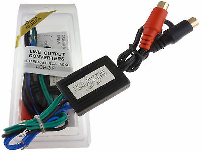 High Low Line Adapter Output Converter Speaker Wire To RCA Jack To Add Amplifier