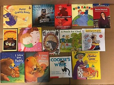 Lot of 20 K-5 Scholastic Learn to Read Picture Mix Set Kid Children Book NR #M37