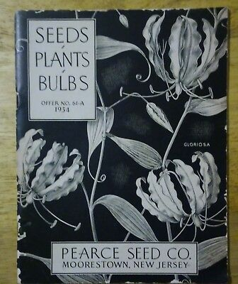 Pearce Seed Co  Moorestown New Jersey 1954 Seed Plants Bulbs Catalog