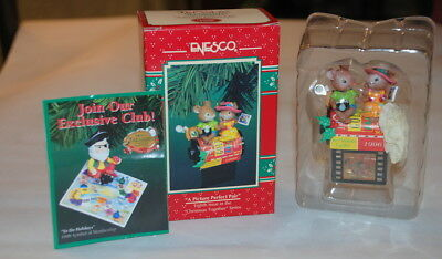 """1996 Enesco Christmas Ornament """"A PICTURE PERFECT PAIR"""" Photography Film"""