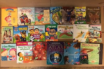 Lot of 20 K-5 Scholastic Learn to Read Picture Mix Set Kid Children Book NR #M40