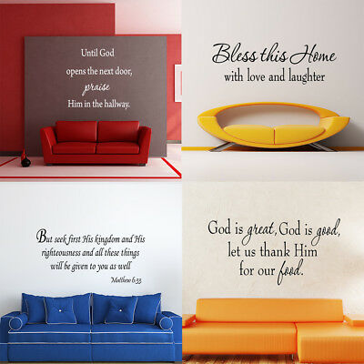 Bible Scripture Wall Decals Word Vinyl Removable Sticker Verse Quote Art Decor