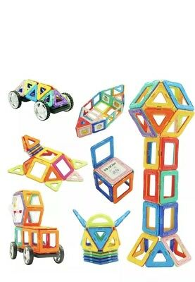120 pcs Educational Magnetic Building Blocks Gift For Children Age 3+ Kids Toy