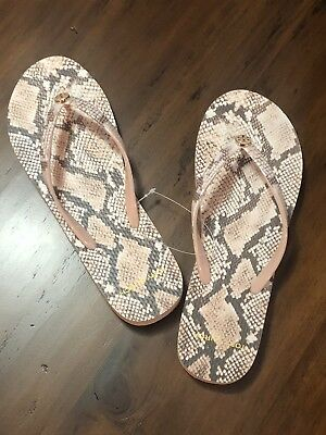 cf4f98513bd88 NIB Tory Burch Printed Thin Flip-Flops - Sunset Blush Roccia - Size 9 MSRP