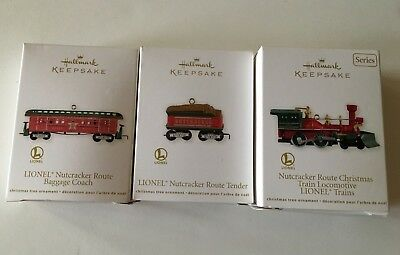Hallmark Lionel Nutcracker Route Christmas Train 2012 - Three Ornaments in Boxes