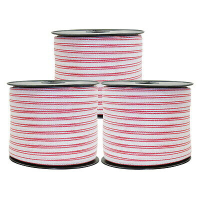 Polytape 1200m Roll Poly Tape Electric Fence Energiser Stainless Steel Fencing