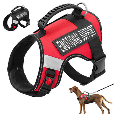 Service Harness Emotional Support Large Dog Vest Walk Strap Removable Patches