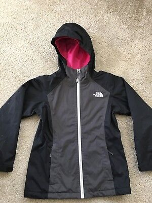 North Face Youth Black Girls Size Medium 10/12 Raincoat in EUC
