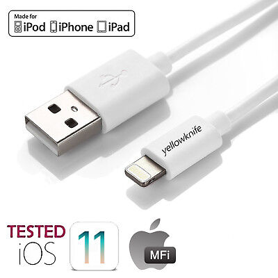 2M MFI Certified Lightning Cable Charger for Apple iPhone Xs Max, XR, 8 7 6 iPad