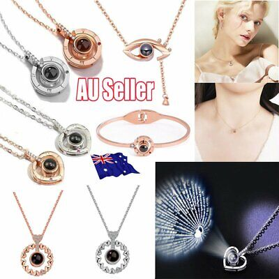 I LOVE YOU in 100 languages 925 Silver Gold Pendant Necklace For Memory LOVE RY