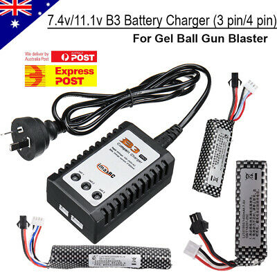7.4V/11.1V Lipo Battery B3 Balance Charger For Gel Ball Blaster JinMing M4A1 NEW