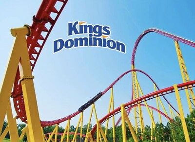 KINGS DOMINION Tickets $37 Admission Promo SAVINGS Discount + MEAL + PARKING!