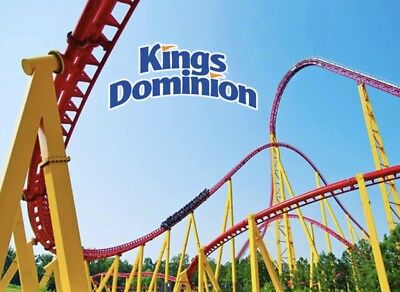 KINGS DOMINION Tickets Promo SAVINGS Discount Admission + DRINKS + PARKING!