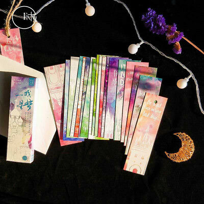 30pc/Box City Star Dream Bookmark Book Mark Magazine Label Memo Organizer Gifts