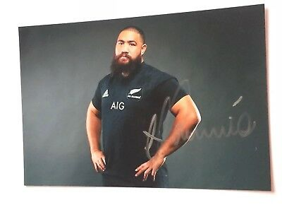 Charlie Faumuina - New Zealand Rugby Player Signed 6x4 Photo