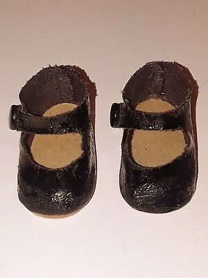 "Vintage Madame Alexander Doll Shoes Oil Cloth for 14"" Little Women Dolls"