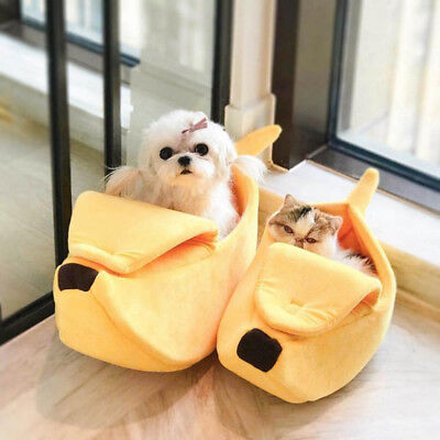 Creative Banana Pet Dog Cat Nest Soft Winter Puppy Kitten Warm House Bed Beamy