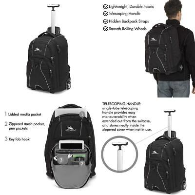 High Sierra Freewheel Wheeled Laptop Backpack, Great for School, College...