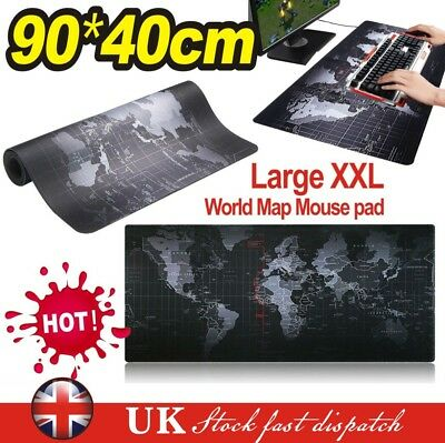 Office World Map Large Cloth Extended Rubber Gaming Mouse Desk Pad Mat 90x40cm