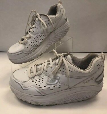 SKECHERS WOMENS SIZE 8 Shape Ups White Walking Shoes SN