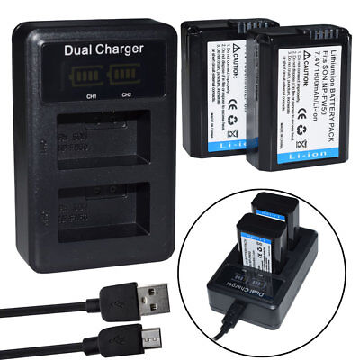 2X Battery+ LCD charger for Canon LP-E6 EOS 5D Mark III 2/3 6D 60D 7D 70D LC-E6E