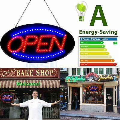 """Bright Animated LED Open Store Shop Business Sign 19x10"""" neon Display Lights EW"""