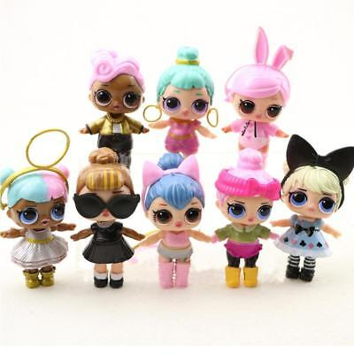 8Pcs Mini LOL Dress Toy Dolls Girls Figure Home Collectible Surprise Ornament US