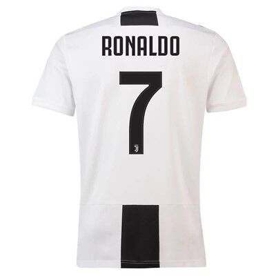 Adult XL Juventus Home Shirt 2018-19 with Ronaldo 7 printing MX23
