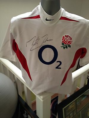 Martin Johnson Signed England 2003 Rugby World Cup Captain Shirt With Proof
