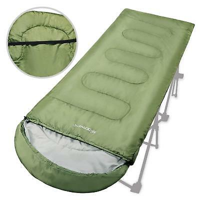 Adults Sleeping Bag for Camping, Warm Weather Sleeping Bag 50-60 Degree