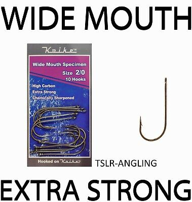 Sea Fishing Hooks -  Koike Tackle Wide Mouth Specimen   All Sizes 1/0 - 10/0