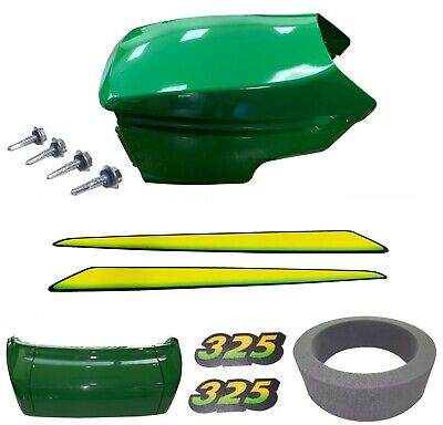 New Upper &Lower Hood/Bumper/Foam Isolator/LH&RH Stickers Fits John Deere 325 UP