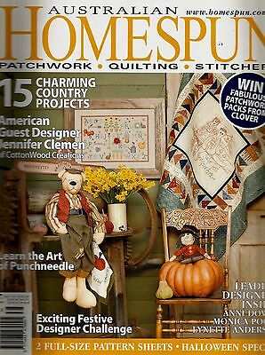 Australian Homespun Magazine No 41.  Vol 7,9.  2006. Pattern Sheets Attached