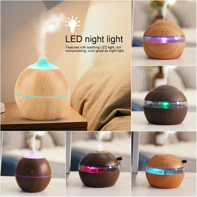 LED Ultrasonic Aroma Diffuser Essential Oil Humidifier Air/Aromatherapy Purifier