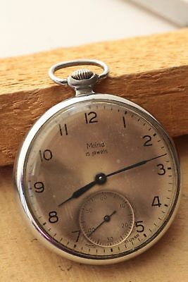 Pocket watch Vintage Rare Molnija ЧК-6 Old 2Q-62 Soviet 3602 Collecting