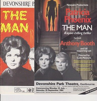 Patricia Phoenix Anthony Booth THE MAN programme & leaflet 1984 Eastbourne