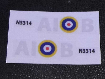 Dinky spitfire 719 authentic style squadron markings. (AIB)