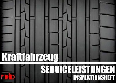 KFZ Serviceheft Scheckheft Inspektionsheft Wartungsheft - Car inspection booklet