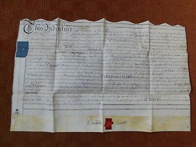 Antique Indenture Dated 1779 Featuring Swaby Lincolnshire