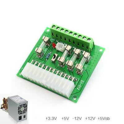 24/20-pin ATX Computer PC Power Supply Breakout Board Adapter Extension Module s