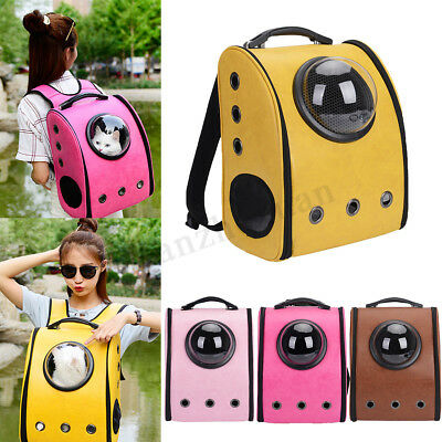 Dog Cat Pet Astronaut Capsule Backpack Carrier With Transparent Breathable Cover