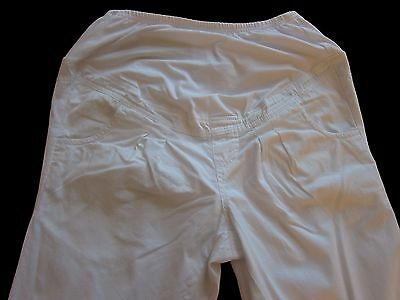 New Womens White NEXT Maternity Trousers Size 16 10 8 Long Regular RRP £30