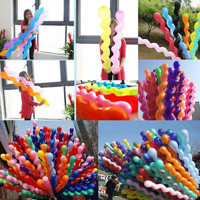 50 Twist Spiral Long Latex Balloons Wedding Birthday Party Decoration Kids Like