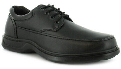 Mens/Gents Black Lace Up Comfort Fit Casual Shoes. Wider Fitting. UK Size