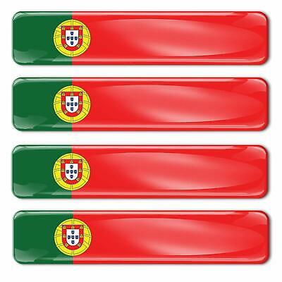 4 x AUTOCOLLANTS PORTUGAL DRAPEAU PORTUGUESE FLAG STICKERS ADHESIF 3D DOMED F 17