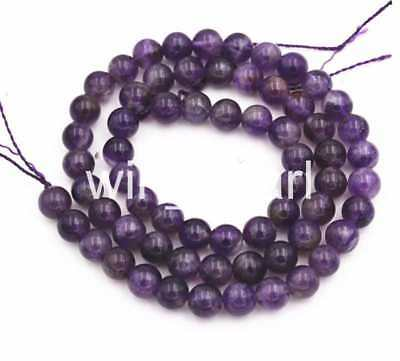 6mm America Russican Amethyst Gemstone Round Loose Beads 15 ""